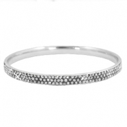 Bracelet stainless steel with strass stones Silver