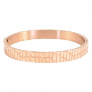 "Bracelet stainless steel ""crocodile"" Rose gold"