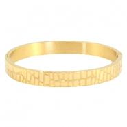 "Bracelet stainless steel ""crocodile"" Gold"