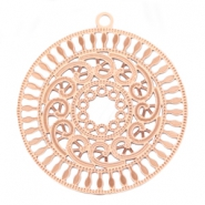Bohemian charms round with ring 30 mm Rose gold