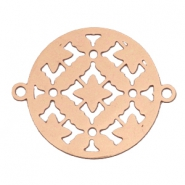 Connector round bohemian 20 mm Rose gold