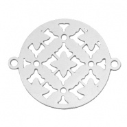 Connector round bohemian 20 mm Silver