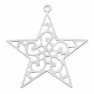 Bohemian charms star with ring Silver