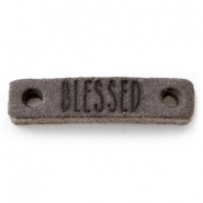 Leather DQ connector BLESSED Dark vintage brown