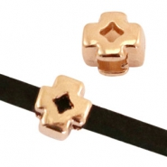 DQ metal sliders cross Ø3x2mm Rosegold