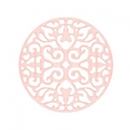 Round bohemian connector 23mm Light rose