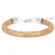 Crystal diamond bracelets 7mm Smoked topaz