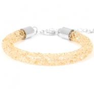 Crystal diamond bracelets 8mm Bisque beige