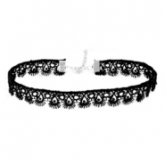 Choker lace chain Black