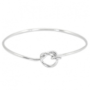 Metal bracelet with node clasp Silver