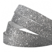 Tape 5 mm crystal glitter anthracite