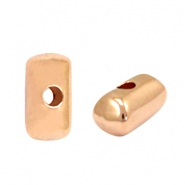 Tubes mixed sizes 12x5 mm DQ metal beads Rosegold