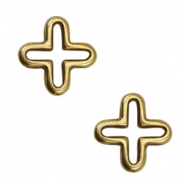 DQ metal charms cross Antique Bronze (Nickel free)