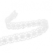 Ribbon with lace 12 mm White