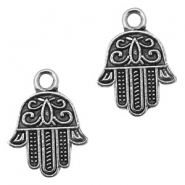 Basic Quality metal charms Hamsa hand 17x13mm Antique Silver
