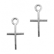 Basic Quality metal charms cross 18x10mm  Antique Silver