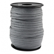 Round trendy 4 mm paracord grey