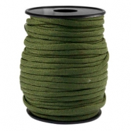 Round trendy 4 mm paracord Army green