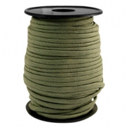 Round trendy 4 mm paracord Light army green