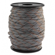 Round trendy 4 mm paracord grey-black brown