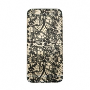 Telephonecase lace for Iphone 6 Transparent - black