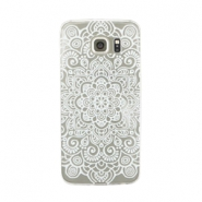 Telephonecase mandala for Samsung Galaxy S6  Transparent - white