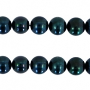 Freshwater pearls 10-11 mm  Dark green