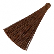 Tassels 6.5 cm Chocolate brown