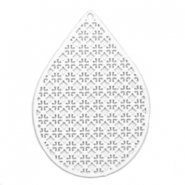 Drop shaped Bohemian pendants White