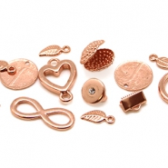 DQ European metal beads and charms DQ European metal beads rose golden