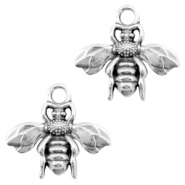 DQ metal charms bee Antique silver (nickel free)