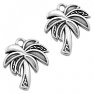 DQ metal charms palmtree Antique silver (nickel free)