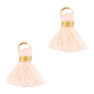 Ibiza style tassels 1.5mm Gold-cream peach