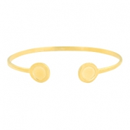 DQ metal findings bracelet with settings SS34 Gold (nickel free)