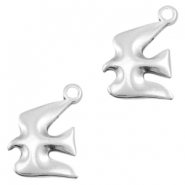 DQ metal charms bird 18x14mm Antique silver (nickel free)