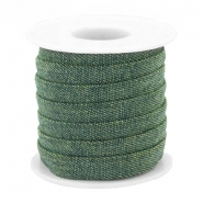 Trendy flat denim cord 10m Dark green