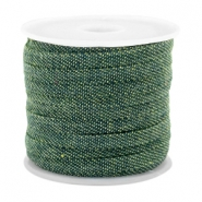 Trendy flat denim cord 5mm Dark green