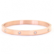 Stainless steel bracelets diamonds Rose gold