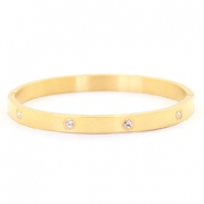 Stainless steel bracelets diamonds Gold