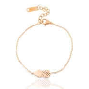 Stainless steel bracelets pineapple Rose gold