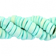 Coconut beads disc 8mm Light turquoise green