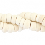 Coconut beads disc 6mm Off white (natural colour of coconut)