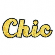 Chic patches Yellow gold rainbow