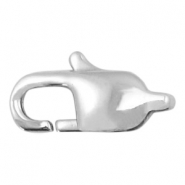 Stainless steel findings lobster clasp 9mm Silver