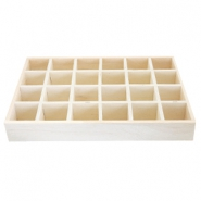 Wooden jewellery display 24 compartments Natural (natural wood colour)