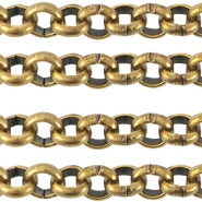 Designer Quality 7mm round belcher chain Gold