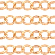 Designer Quality round belcher chain 3mm DQ Rose Gold durable plating