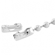 End cap / ballchain clasp for 3mm chain Antique silver