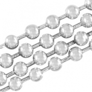 DQ ball chain 2mm DQ Antique silver durable plated