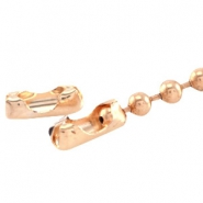 DQ ball chain clasp for 2mm chain DQ Rose Gold durable plating